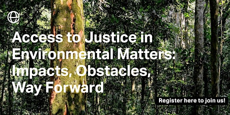 Access to justice in environmental matters: obstacles, impacts, ways forwar tickets