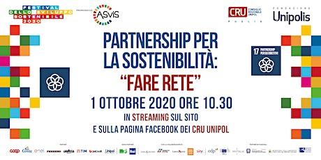 """Partnership per la sostenibilità: """"Fare rete"""" biglietti"""