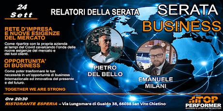 Serata Business Info Progetto Cashback World biglietti