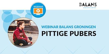 Webinar 'Pittige Pubers' tickets