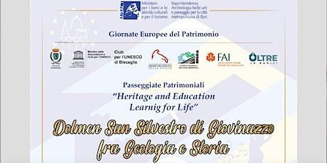 Passeggiata fra geologia e storia al Dolmen di San Silvestro di Giovinazzo biglietti