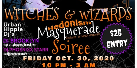 Witches & Wizards Hedonism Masquerade Soiree tickets
