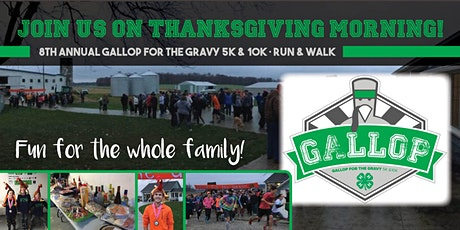 Gallop for the Gravy 5K & 10K 2020 tickets