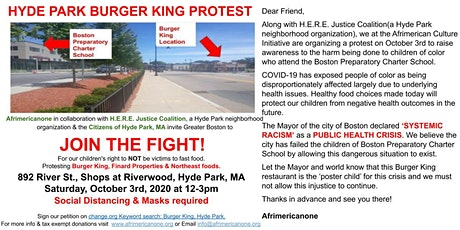 HYDE PARK BURGER KING PROTEST tickets