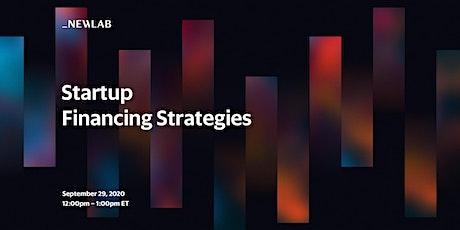 Startup Financing Strategies tickets