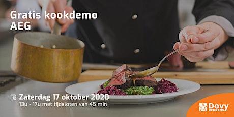 Gratis kookdemo AEG op 17/10 - Dovy Oostende tickets