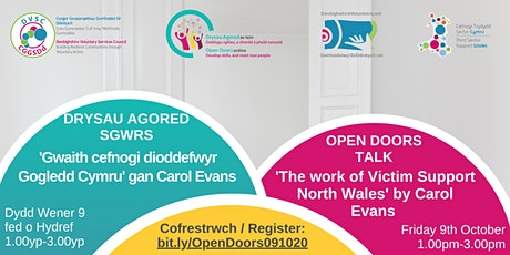 Open Doors Talk 'The Work of Victim Support North Wales' tickets