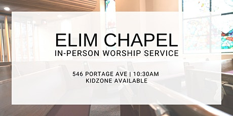 Elim In-Person Worship Service tickets