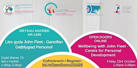 Open Doors Wellbeing with John Fleet Centre for Personal Development