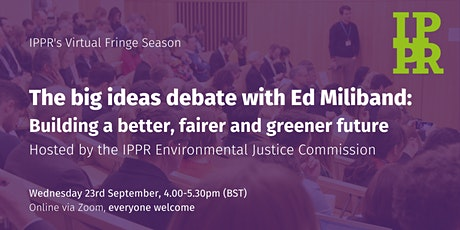 The Big Ideas Debate with Ed Miliband MP tickets