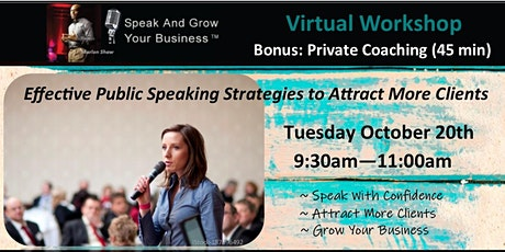 Effective Public Speaking Strategies to Attract More Clients tickets