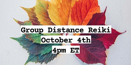 Online Group Distance Reiki tickets