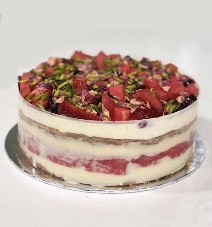 Watermelon Stawberry  Cake image