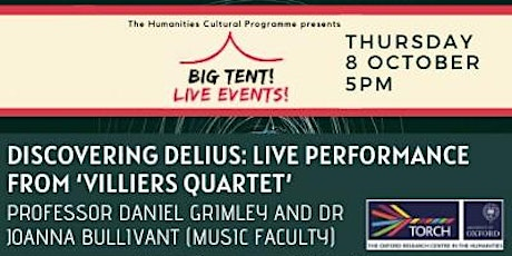 Humanities Cultural Programme Live Event: Discovering Delius tickets