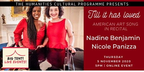 Humanities Cultural Programme Live Event: Till it has loved - American Art tickets