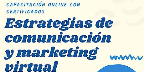 Estrategias de comercialización y marketing virtual: mi marca en las redes entradas