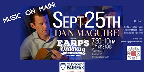 Music on Main!  Friday Sept. 25, 2020 tickets