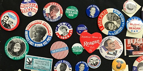 Virtual Lecture: Female Representations in Political Pins 1976-2016 tickets