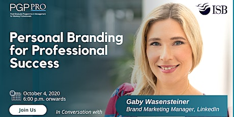 PGPpro Web Series: Personal Branding for Professional Growth - 4Oct2020 tickets