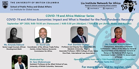 COVID-19 and African Economies: Impact and What is Needed for Post-Pandemic tickets