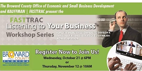Kauffman | FASTTRAC Listening to Your Business - Broward County OESBD tickets