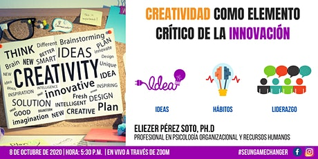 Charla: Creatividad como elemento crítico de la innovación tickets