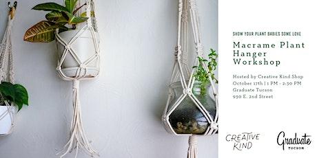 Macrame Plant Hanger Workshop with Creative Kind Shop tickets