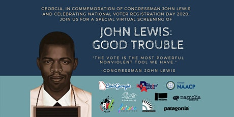 """National Voter Registration Day - """"John Lewis: Good Trouble"""" GA Screening tickets"""