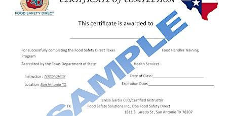 Online TX Food Handler Class tickets