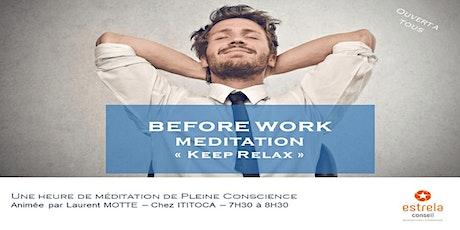 Une heure  de méditation de Pleine Conscience billets