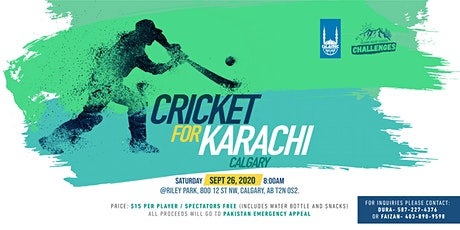 Calgary: Cricket for Karachi tickets