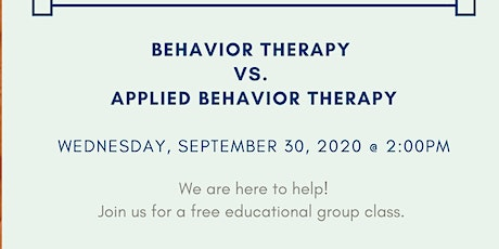 Understanding the Difference between Behavior Therapy and ABA Therapy tickets