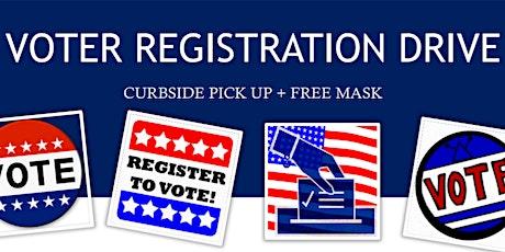 VOTER REGISTRATION DRIVE  CURBSIDE PICK UP + FREE MASK @CoBiz tickets
