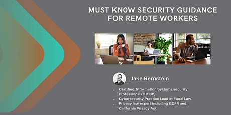 Must Know Security Guidance For Remote Workers tickets