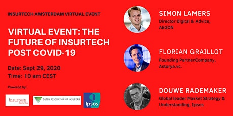 Virtual Event: The Future of Insurtech Post COVID-19 tickets