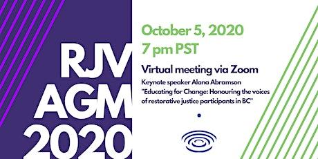 Restorative Justice Victoria AGM 2020 tickets