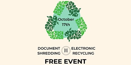 Home Electronics Recycling & Document Shredding tickets