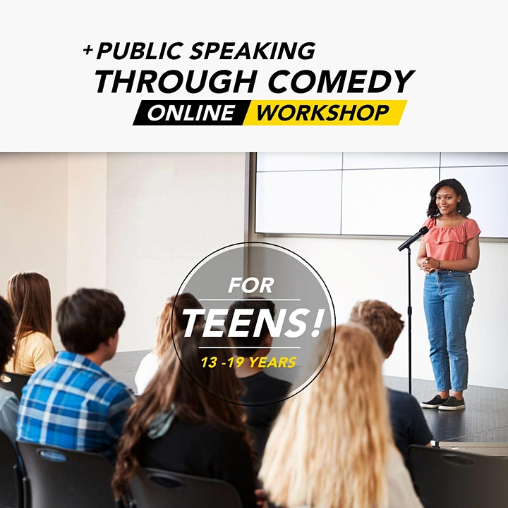 Public Speaking through Comedy (for Teens) | Online Workshop image