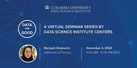 Data for Good: Marzyeh Ghassemi, University of Toronto tickets