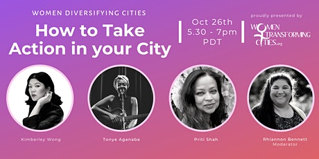 Women Diversifying Cities: How To Take Action in Your City Webinar tickets