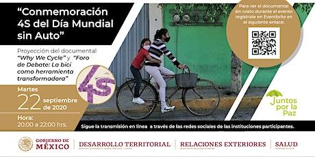 Día Mundial Sin Auto: Foro de debate y proyección web 'Why We Cycle' boletos