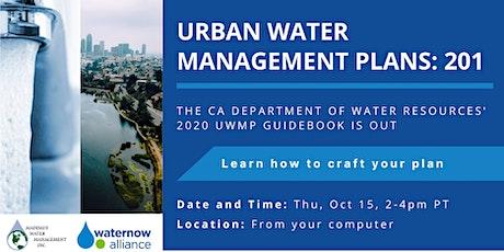 Urban Water Management Plans: 201 Webinar tickets
