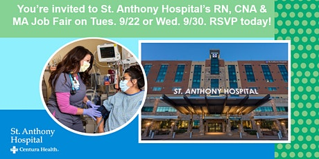 Experienced RN, CNA & MA Career Fair - St. Anthony Hospital tickets