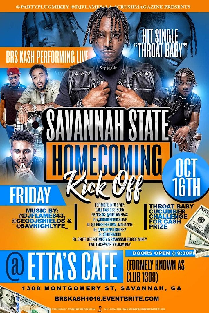 Savannah State Homecoming W/ BRS Kash Performing Live image