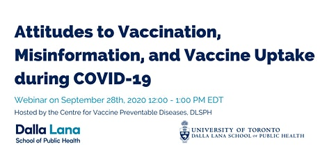 Attitudes to Vaccination, Misinformation and Vaccine Uptake during COVID-19 tickets