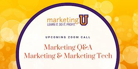 Free Q&A: Marketing & Marketing Technology tickets