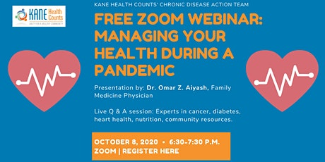 Free Zoom webinar: Managing your health during a pandemic tickets