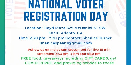 National Voting Registration Day tickets