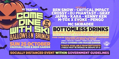 Come Dine With Ski - Halloween Brunch Poster