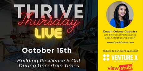 Thrive Thursday LIVE @ Venture X Downtown Orlando tickets